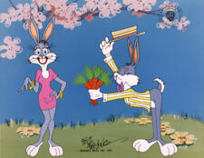Warner Brothers-Bugs Courts Bonnie Limited Edition Cel Signed By Friz Freleng