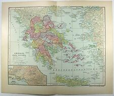 Original 1903 Dated Map of Greece by Dodd Mead & Company