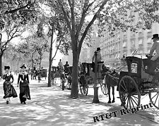 Photograph Vintage New York Cab Stand in Madison Square Year 1900 11x14