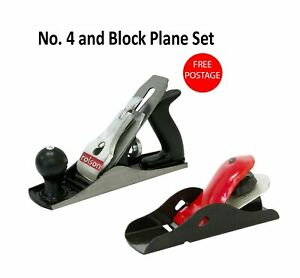Block And Smoothing Plane Woodworking DIY No.4 Carpentry Tool Set