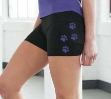 SLED DOG SPIRIT WOMENS BLACK COOL RUNNING TRAINING SHORTS CANI CROSS HUSKY RUN