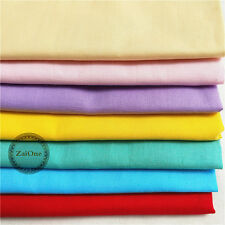 Plain Solid 100% Cotton Fabric Quilting Sewing Craft Patchwork Clothing Yard