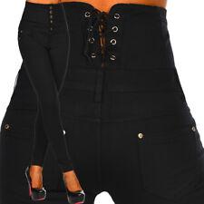 SEXY Damen Stretch Hose Skinny Slim Hoch Tailliert Korsett B 082