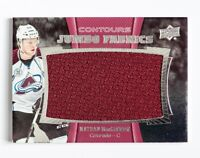 NATHAN MACKINNON UPPER DECK CONTOURS JUMBO GAME USED JERSEY CARD AVALANCHE