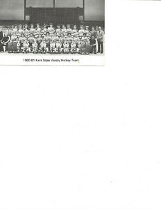 Kent, OH Kent State Univ.1980/81 Varsity Hockey Team Postcard