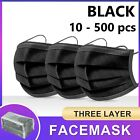 Black / Blue Face Mask 3 Layer Ply Mouth Masks Anti Bacterial Filter Disposable <br/> SYD stock/Certified/Dispatched in 24hrs