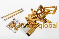 For Honda CBR600RR 2007-2016 Gold CNC Rearsets Foot pegs Rear Brake set