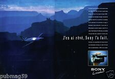 Publicité Advertising 1991 (2 pages) Camera Camescope SONY