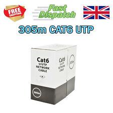 CAT6 UTP Cable De Red Ethernet 305m gris sólido de cobre OFC Lan Cctv