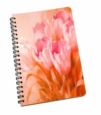 Peach Floral Print Notebook A5 Sheet Smooth Paper Notebook Office Stationary