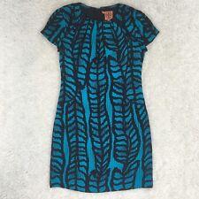 Tory Burch blue and black 100% silk dress women's sz 0