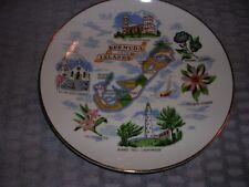 Vintage Souvenir Bermuda Islands Wall Hanging Ceramic Plate