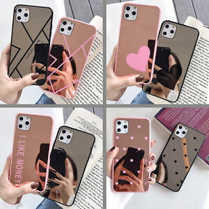 Luxury Mirror Makeup Glass Case Phone Cover For iPhone 11 XR 7 Plus + Film