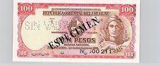 URUGUAY SPÉCIMEN 100 PESOS 2.1.1939 PICK 39 b S !!!!