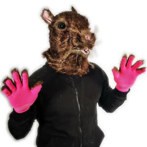 Rat Mask & Gloves Fursuit Brown Mouse Animal Splinter Costume Accessory Masks