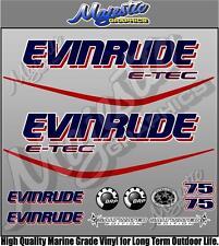 EVINRUDE ETEC - 75hp - OUTBOARD DECALS