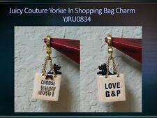 Adorable 2007 JUICY COUTURE Yorkie In a Shopping Bag Charm YJRU0834
