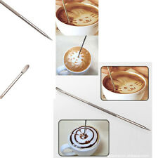 New Stainless Steel High Quality Barista Cafe Coffee Latte Art Pen Paint Spoon