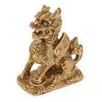 Retro Chinesische Kylin Drachen Figuren Statue Drachenfigur Feng Shui