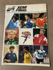 UEFA EURO 92 Semi Final  Sweden v Germany football 21 June 1992 Stockholm