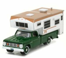 Greenlight 29866 1967 Dodge D-100 Winnebago w/ Slide-In Camper 1:64 Scale