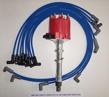 CHEVY CORVETTE 1985-1991 5.7L 350 TPI DISTRIBUTOR, BLUE 8mm SPARK PLUG WIRES USA
