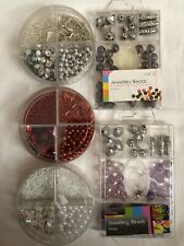 Mixed Job Lot Beads & Sequins Jewellery Making New