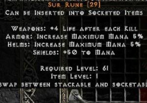 SUR RUNE - PD2 Project Diablo 2 Softcore SC