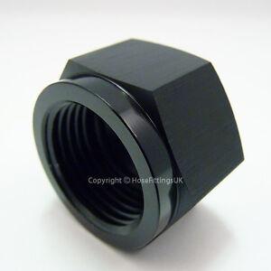AN-3 AN3 BLACK JIC Flare END CAP Blanking Plug Blocker Hose Fitting Adapter