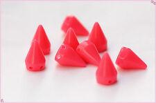 35pz Borchie sfuse a cono da cucire colore rosa anguria*35pcs pink CONE STUDS
