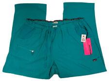 Koi Lite Peace Womens Plus 2X Petite Slim Fit Teal Scrub Pants Style# 721-P Nwt