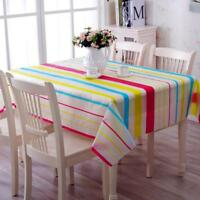 Table Cloth Waterproof Oilproof Printed Lace Edge Plastic Square Handmade Covers