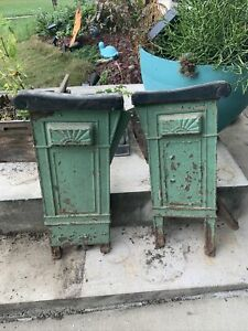 Antique Cast Iron Theater Seats,  Lord Baltimore Theater 1913 Art Deco