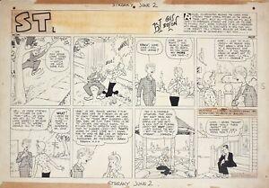 Grande planche originale de GUS EDSON et DOC WINNER datée 1935 USA