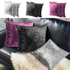 NEW Crushed Velvet Cushion Covers Luxury Plush Plain 18' X 18', 24' X 24', 30X30
