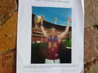 JASON AKERMANIS  PERSONALLY SIGNED BRISBANE LIONS PREMIERS AFL  PHOTO 7X5 inch