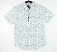 NEW Robert Graham Men's Shirt Short Sleeves Cleland White Size S $198