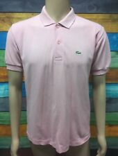 (Used) Mens Chemise Lacoste Casual Short Sleeve Polo Shirt Size: M Roughly Pink