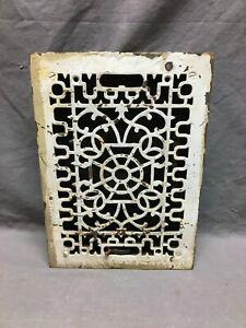 Antique Cast Iron Heat Grate Register 8x12 Decorative White Old VTG 1268-20B
