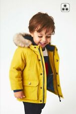 Next Baby Boys Yellow Warm Winter Parka Coat