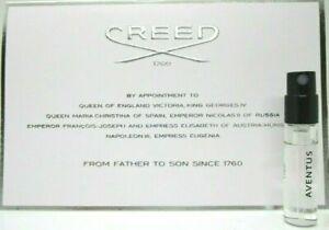 Creed Aventus 2 Pcs Men Sample vial 0.08 oz 2.5 ml EDP Parfum Spray On Card