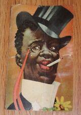 RACIST SAMBO POSTCARD 1920'S