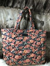 NWT Marc Jacobs New York Peach Pink Floral Print Quilted Shopper travel Tote Bag