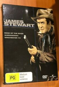 James Stewart - Western Collection (DVD, 2007, 3-Disc Set)Very Good Condition R4