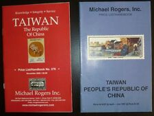 Lot of two Michael Rogers Price List/Handbook Taiwan Stamp Sale Lists 1997 2002
