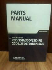 New Hyundai Forklift Parts Manuals Buy It Now $125.00