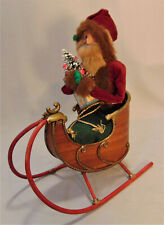 Byers' Choice Carolers Ded Dyedt Moroz Russian Santa in Wooden Sleigh