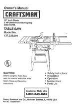 Craftsman 137.228210 Table Saw Manual