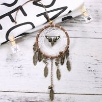 Brown Dream Catcher Wall Hanging Feather Decoration Ornament Handmade Craft DIY