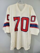 Rare VTG 80s Sand Knit NFL New England Patriots 70 Mesh Football Jersey Mens L